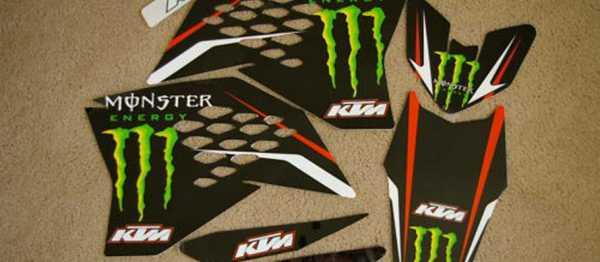 Kit d�co MONSTER KTM EXC/EXCF 08-11. Cr�dits : �EMX