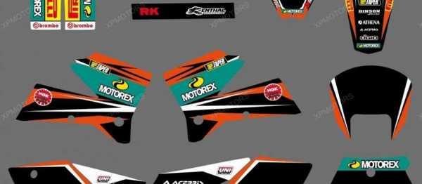 Kit d�co XP MOTOREX KTM EXC/EXCF 05-07 KTM SX/SXF 05-06. Cr�dits : �EMX