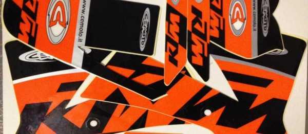 Kit déco CEMOTO KTM 65 SX 02-08. Crédits : ©EMX