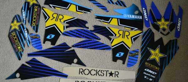 Kit déco ONE INDUSTRIE ROCKSTAR YZF 450 10-13. Crédits : ©EMX