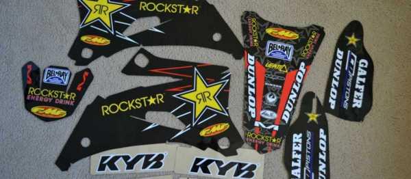 Kit d�co FLU DESIGN ROCKSTAR BLACK YZF 06-09. Cr�dits : �EMX