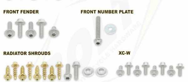Kit visserie BOLT KTM SX/SXF 07-10. Crédits : ©EMX