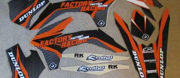 Kit déco FLU DESIGN KTM EXC/EXCF 14-16 SX/SXF 13-15. Crédits : ©EMX
