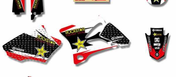 Kit deco XPARTS YAMAHA YZ 85 02-14. Crédits : ©accessoires-moto-enduro-cross.fr 2017