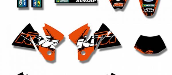 KIT DECO XP KTM SX/EXC/EXCF 98-00. Crédits : ©accessoires-moto-enduro-cross.fr 2017