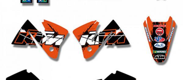 KIT DECO XP KTM EXC/EXCF 01-02. Crédits : ©accessoires-moto-enduro-cross.fr 2018