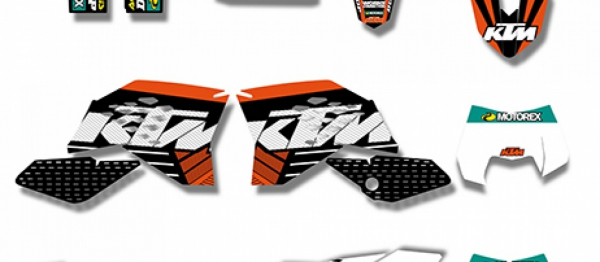 KIT DECO XPARTS KTM SX/SXF 07-10 EXC/EXCF 08-11. Crédits : ©accessoires-moto-enduro-cross.fr 2017