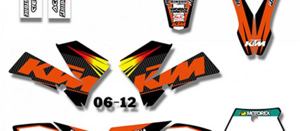 KIT DECO XPARTS KTM SX 85 06-12. Crédits : ©accessoires-moto-enduro-cross.fr 2018