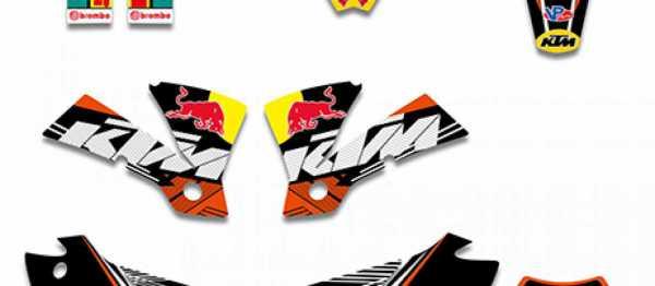 Kit déco XPARTS KTM EXC/EXCF 2004. Crédits : ©accessoires-moto-enduro-cross.fr 2016
