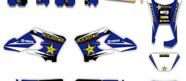 Kit déco XPARTS YAMAHA WRF 250/450 05-06. Crédits : ©accessoires-moto-enduro-cross.fr 2016