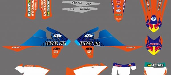 KIT DECO XP KTM EXC/EXCF 17-18 SX/SXF 16-18. Crédits : ©accessoires-moto-enduro-cross.fr 2017