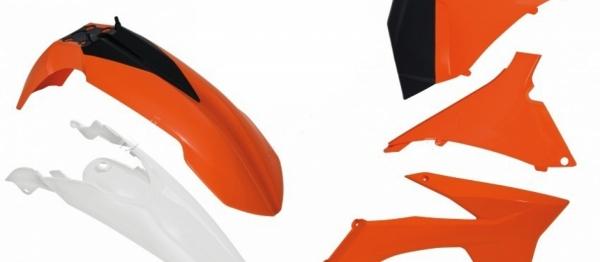 Kit plastiques KTM EXC/EXCF 12-13. Crédits : ©accessoires-moto-enduro-cross.fr 2018