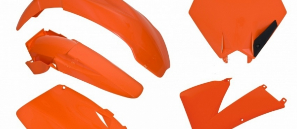 Kit plastiques KTM SX/SXF 01-03. Crédits : ©accessoires-moto-enduro-cross.fr 2018