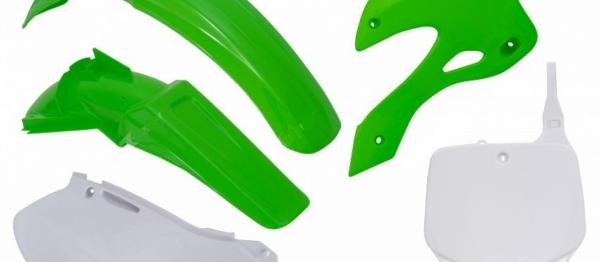 Kit plastiques KAWASAKI KX 125/250 99-02. Crédits : ©accessoires-moto-enduro-cross.fr 2018