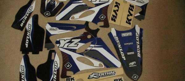 Kit d�co FLU DESIGN YZ 125/250 02-14. Cr�dits : �accessoires-moto-enduro-cross.fr 2015