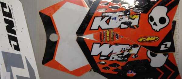 Kit déco ONE INDUSTRIE KTM 65 SX 09-16. Crédits : ©accessoires-moto-enduro-cross.fr 2015