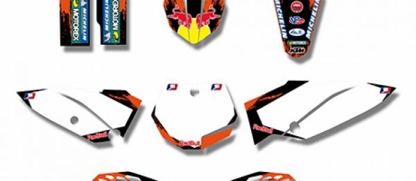 Kit déco XP KTM SX 65 09-15. Crédits : ©accessoires-moto-enduro-cross.fr 2018