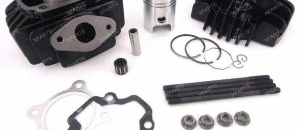 Kit cylindre-piston-culasse PW 50. Crédits : ©accessoires-moto-enduro-cross.fr 2016
