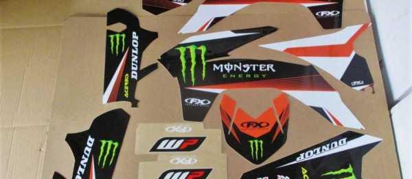 Kit déco FX MONSTER KTM SX/SXF 13-15. Crédits : ©accessoires-moto-enduro-cross.fr 2016