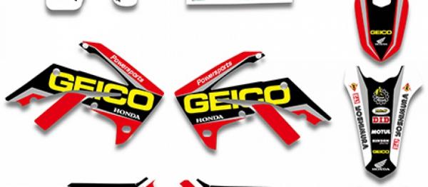 Kit deco XPARTS HONDA CRF 250 11-13 CRF 450 11-12. Crédits : ©accessoires-moto-enduro-cross.fr 2016