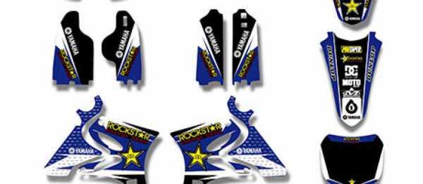 Kit déco XPARTS YZ 125/250 02-14. Crédits : ©accessoires-moto-enduro-cross.fr 2016