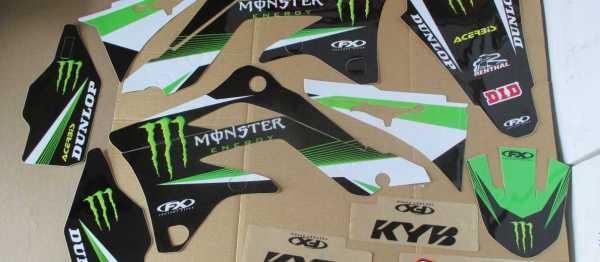 Kit deco FX KAWASAKI KXF 450 12-15. Crédits : ©accessoires-moto-enduro-cross.fr 2016