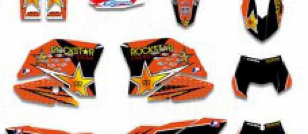 Kit d�co KTM EXC/EXCF 09-11 SX/SXF 07-10. Cr�dits : �accessoires-moto-enduro-cross.fr 2016