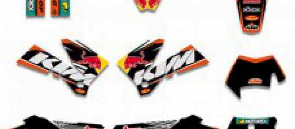 Kit d�co XP KTM EXC/EXCF 05-07 SX/SXF 05-06. Cr�dits : �accessoires-moto-enduro-cross.fr 2016