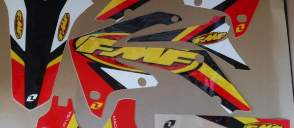 KIT DECO ONE INDUSTRIE FMF CRF 250 10-13 CRF 450 09-12. Crédits : ©accessoires-moto-enduro-cross.fr 2017