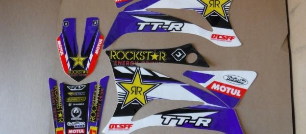 KIT DECO FLU DESIGN YAMAHA TTR 125 08-18. Crédits : ©accessoires-moto-enduro-cross.fr 2017