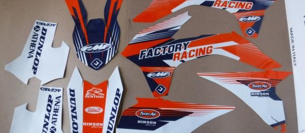 KIT DECO FLU DESIGN PTS3 KTM EXC/EXCF 14-16 SX/SXF 13-15. Crédits : ©accessoires-moto-enduro-cross.fr 2017
