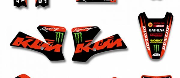 KIT DECO XP KTM SX 65 02-08. Crédits : ©accessoires-moto-enduro-cross.fr 2018