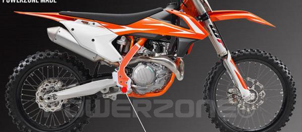 PROTEGES CADRE POWERZONE X-GRIP KTM SX/SXF 16-18 EXC/EXCF 17-18. Crédits : ©accessoires-moto-enduro-cross.fr 2018