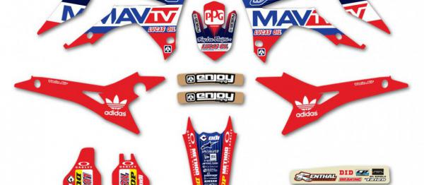 KIT DECO REPLICA TROY LEE DESIGN MA TV HONDA CRF 250 17-18 450 16-18. Crédits : ©accessoires-moto-enduro-cross.fr 2018