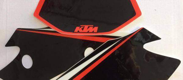 FONDS DE PLAQUES KTM EXC/EXCF 2004. Crédits : ©accessoires-moto-enduro-cross.fr 2018