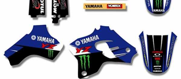 Kit déco XPARTS YAMAHA YZ 80 93-01. Crédits : ©accessoires-moto-enduro-cross.fr 2016