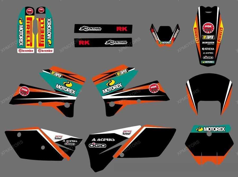 Kit déco XP MOTOREX KTM EXC/EXCF 05-07 KTM SX/SXF 05-06. Crédits : ©EMX