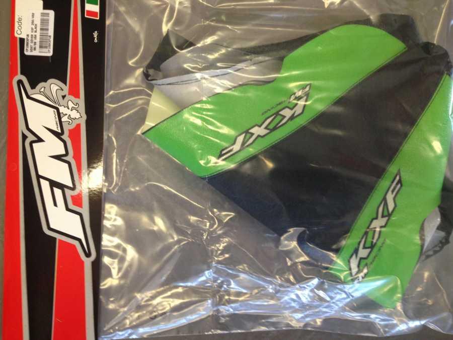 Housse de selle fm crystal racing kxf 250 06 08 for Housse de selle moto kawasaki