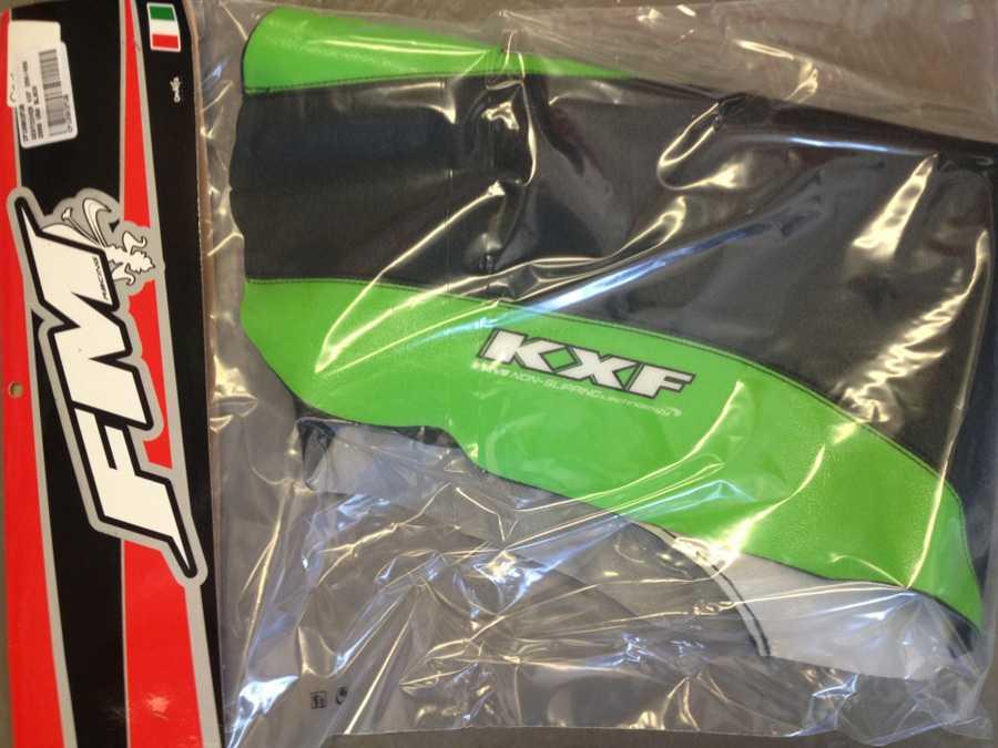 Housse de selle fm racing kawasaki kxf 250 09 12 kxf 450 09 11 for Housse de selle moto kawasaki