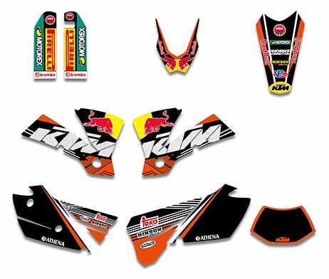 Kit déco XPARTS KTM EXC/EXCF 2004