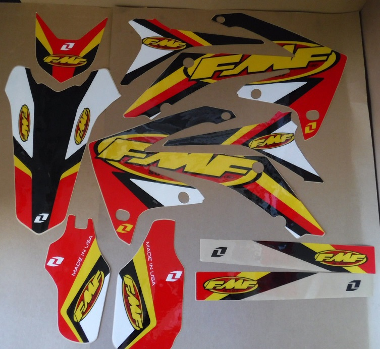 KIT DECO ONE INDUSTRIES FMF HONDA CRF 250 10-13 CRF 450 09-12. Crédits : ©accessoires-moto-enduro-cross.fr 2017
