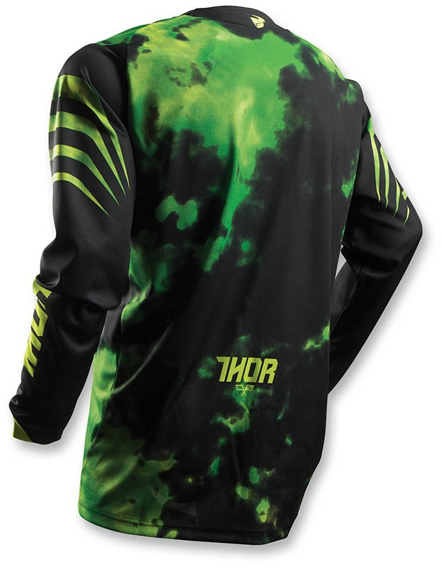 MAILLOT MOTO-CROSS ENFANT THOR PULSE TYDY LIME. Crédits : ©accessoires-moto-enduro-cross.fr 2017