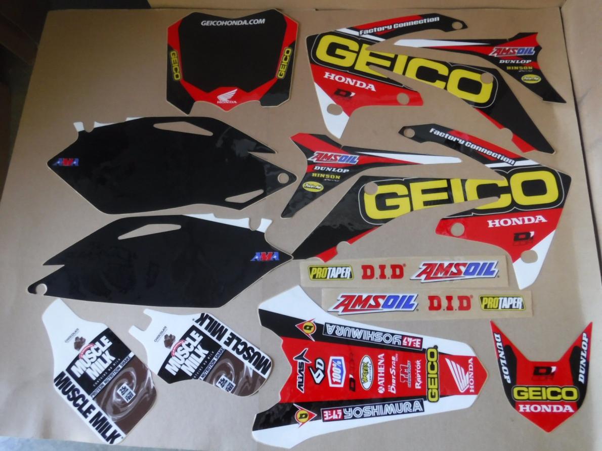KIT DECO DCOR GEICO CRF 250 10-13 CRF 450 09-12. Crédits : ©accessoires-moto-enduro-cross.fr 2018