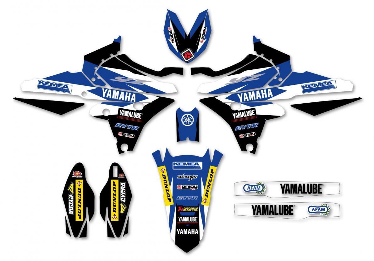 KIT DECO REPLICA KEMEA TEAM MX2 YAMAHA YZF 250 14-18 450 14-17. Crédits : ©accessoires-moto-enduro-cross.fr 2018