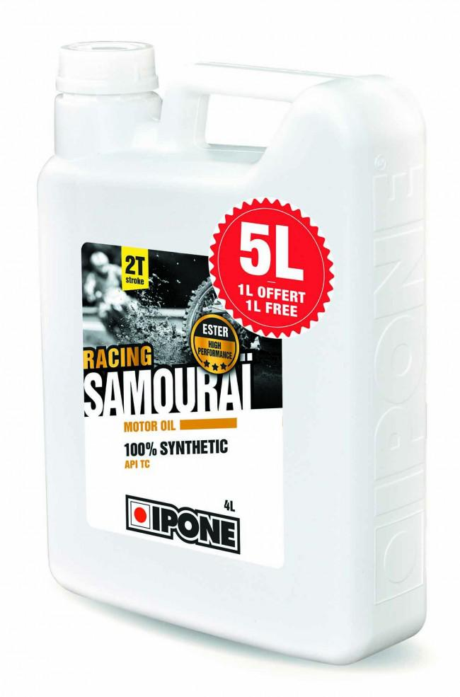 5L HUILE IPONE SAMOURAI 2T 100% SYNTHESE. Crédits : ©accessoires-moto-enduro-cross.fr 2018