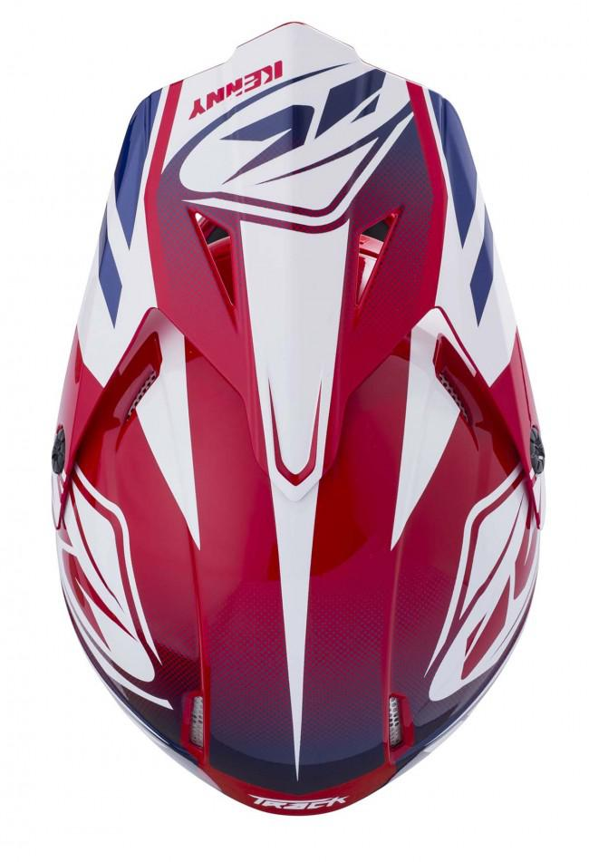 CASQUE CROSS KENNY TRACK RED 18. Crédits : ©accessoires-moto-enduro-cross.fr 2018