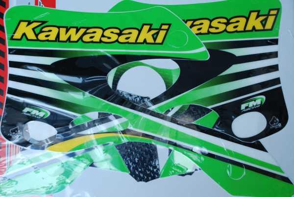 Kit déco FM RACING KAWASAKI KX 125/250 99-02. Crédits : ©EMX