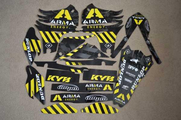 Kit déco FLU DESIGN ARMA YAMAHA YZF 450 10-13. Crédits : ©EMX