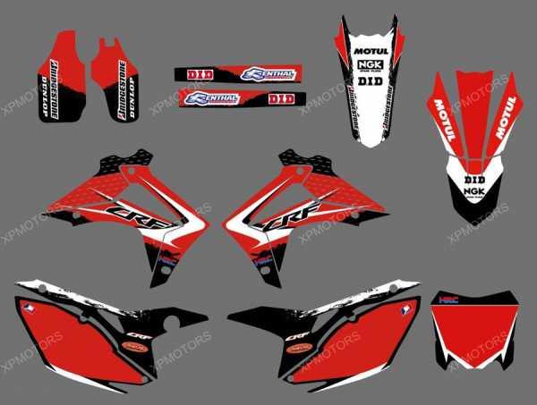 Kit déco XPARTS HONDA CRF 250 14-17 CRF 450 13-16. Crédits : ©EMX
