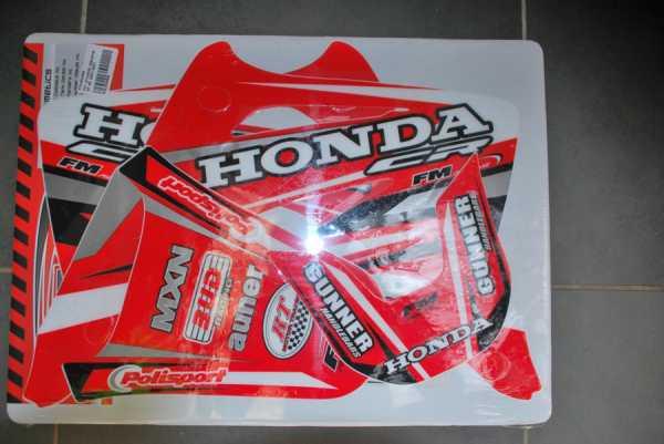 Kit déco FM RACING HONDA CR 85 03-08. Crédits : ©EMX